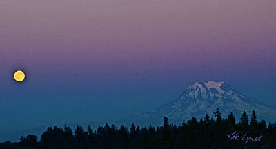 Rainier Moonrise Poster