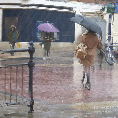 Poster featuring the photograph Raining All Around by LemonArt Photography