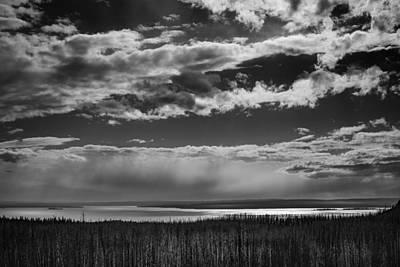 Poster featuring the photograph Raining At Yellowstone Lake by Jason Moynihan