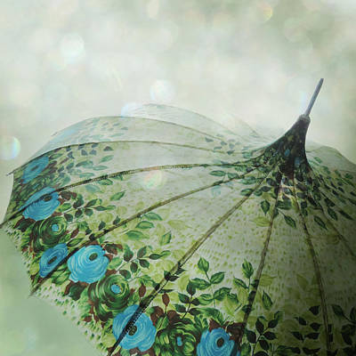 Raining Bokeh Poster by Sally Banfill