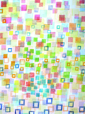 Raining Squares And Frames Poster by Heidi Capitaine