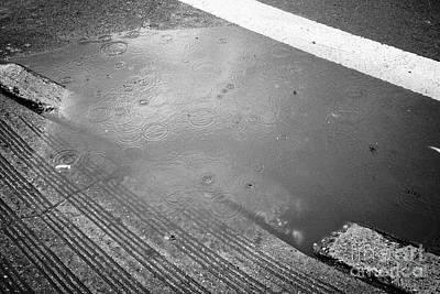 rainwater starting to flood on streets New York City USA Poster