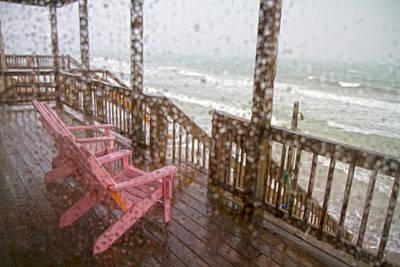 Rainy Beach Evening Poster by Betsy Knapp