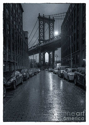 Rainy Day In Brooklyn Poster by Marco Crupi
