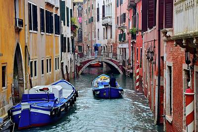 Rainy Day In Venezia Poster by Frozen in Time Fine Art Photography