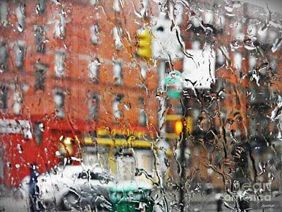 Rainy Day Nyc 2 Poster by Sarah Loft