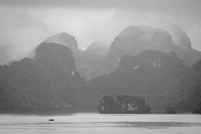 Poster featuring the photograph Rainy Ha Long Bay, Ha Long, 2014 by Hitendra SINKAR
