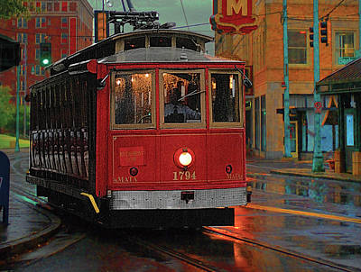 Rainy Night In Memphistenn Poster by Don Wolf