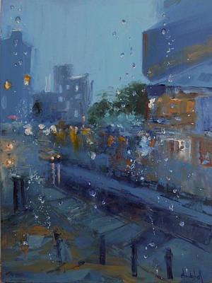 Rainy Reflections Poster by Barbara Andolsek