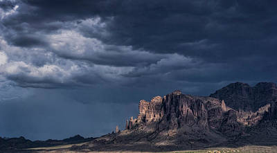 Rainy Skies Over The Superstitions  Poster