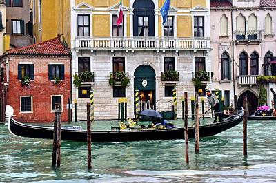 Rainy Venice Poster by Frozen in Time Fine Art Photography
