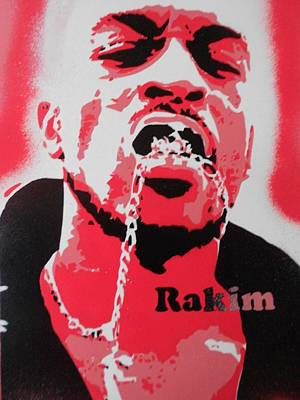 Rakim In Red Poster