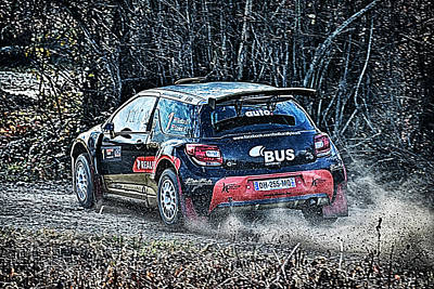 Rally Car Poster by Borko Turudic
