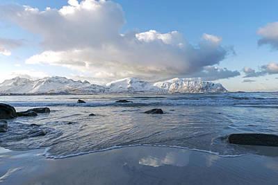 Ramberg Beach, Lofoten Nordland Poster