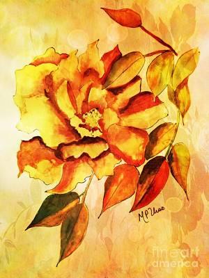 Rambling Rose Poster by Maria Urso