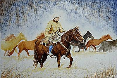 Ranch Rider Poster by Jimmy Smith