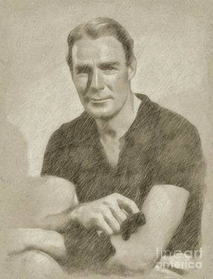Randolph Scott Hollywood Actor Poster by Frank Falcon