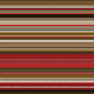 Random Stripes - Red Accents Poster by Val Arie