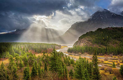 Poster featuring the photograph Range Of Light // Many Glacier Valley, Glacier National Park  by Nicholas Parker