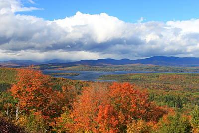 Rangeley Lake Autumn View Poster