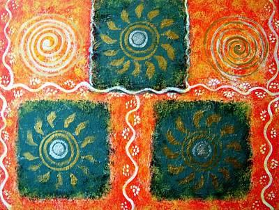 Rangoli Abstract Painting Poster