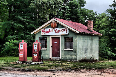Rankins Grocery In Watercolor Poster