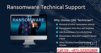 Ransomware Support Services In Dubai, Uae Poster