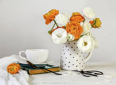 Poster featuring the photograph Ranunculus Bouquet by Kim Hojnacki