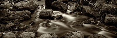 Roaring Fork Cascade - Sepia Poster by Stephen Stookey