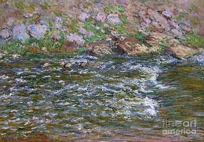 Rapids On The Petite Creuse At Fresselines, 1889 Poster by Claude Monet