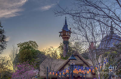 Rapunzel's Tower At Sunset Poster