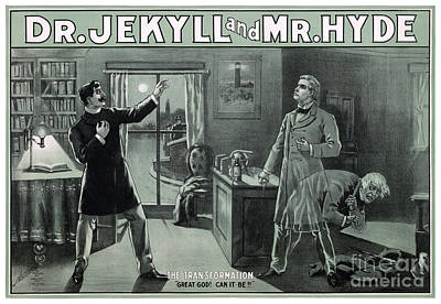 Rare Dr. Jekyll And Mr. Hyde Transformation Poster Poster by Carsten Reisinger