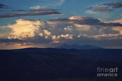 Poster featuring the photograph Rare June Storm Glow San Francisco Peaks by Ron Chilston