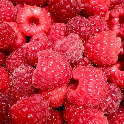 Poster featuring the photograph Raspberries by Cristina Stefan