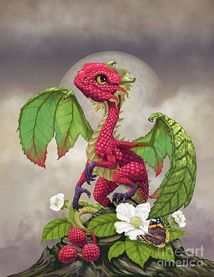 Raspberry Dragon Poster by Stanley Morrison