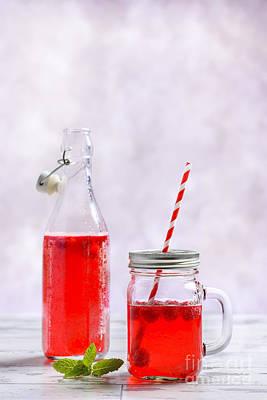 Raspberry Fruit Drink Poster by Amanda Elwell