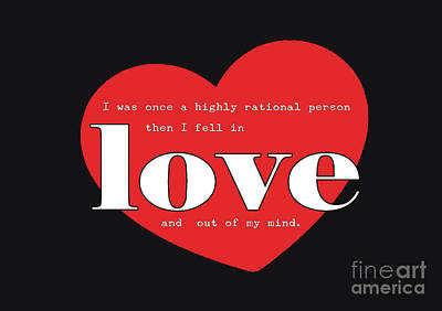 Rational Until Love Poster by Liesl Marelli
