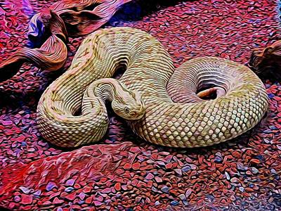 Rattlesnake In Abstract Poster