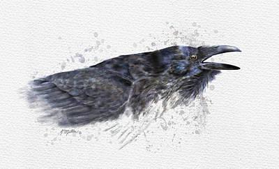 Raven 2 Poster by Kathie Miller
