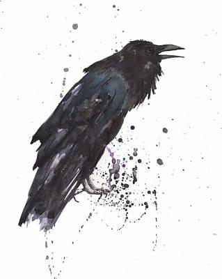 Raven  Black Bird Gothic Art Poster