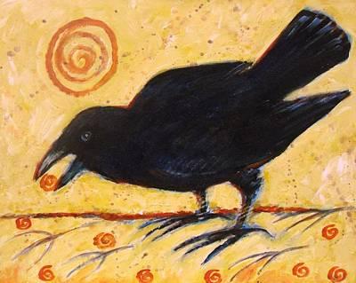 Raven Grazing Poster