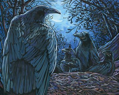 Raven Nest Poster by Nadi Spencer