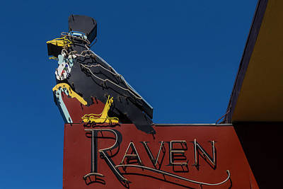 Raven Sign Poster by Garry Gay