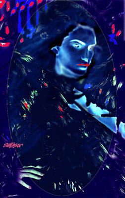 Poster featuring the digital art Raven Woman by Seth Weaver