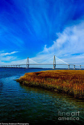 Ravenal Bridge Charleston South Carolina Poster by Tommy Anderson