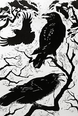 Ravens Poster by Nat Morley