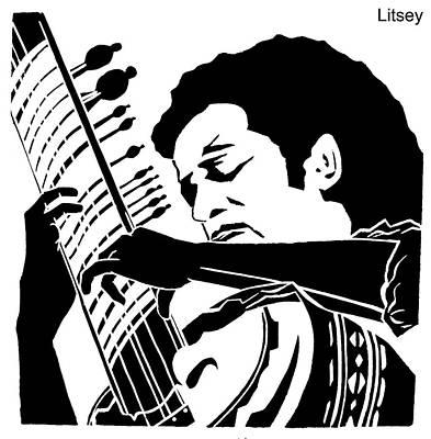 Ravi Shanker  Poster by International Artist Brent Litsey