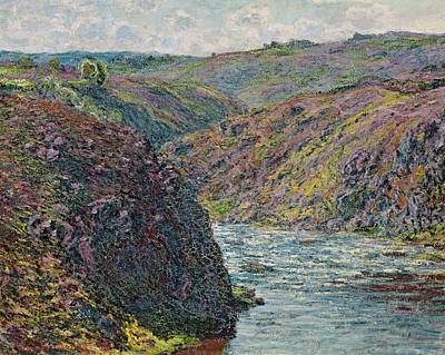 Ravines Of The Creuse At The End Of The Day Poster by Claude Monet