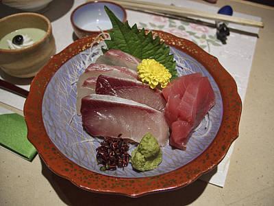 Raw Fish Sashimi Plate - Kyoto Japan Poster by Daniel Hagerman