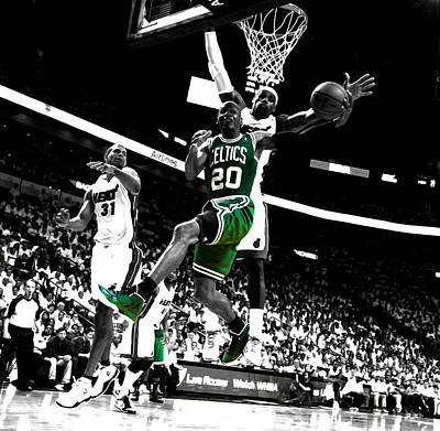 Ray Allen 2c Poster by Brian Reaves